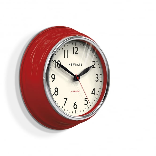 Newgate The Cookhouse Wall Clock - Biscuit Box Red