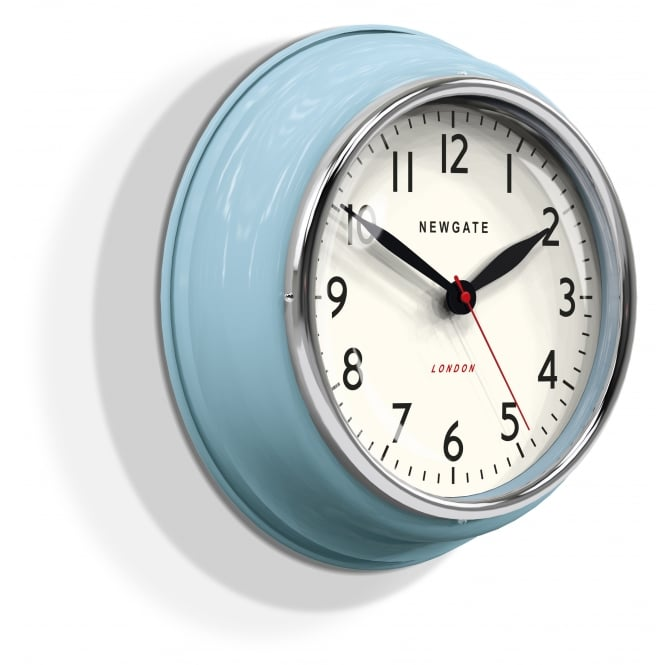 Newgate The Cookhouse Wall Clock - Kettle Blue
