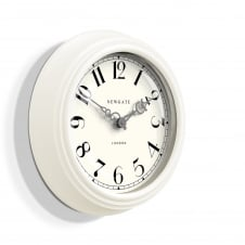 The Dormitory Wall Clock - White Linen