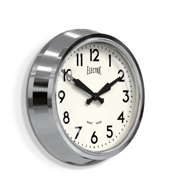 Newgate The Electric Wall Clock - Chrome