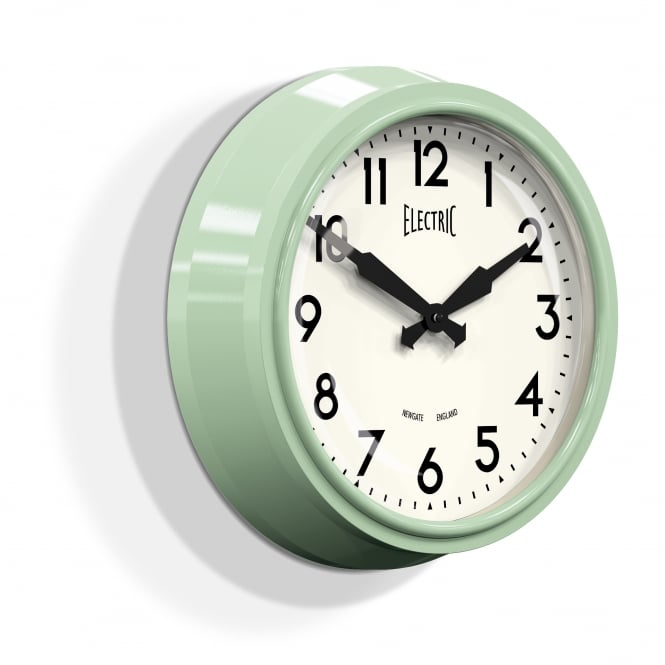 Newgate The Electric Wall Clock - Kettle Green