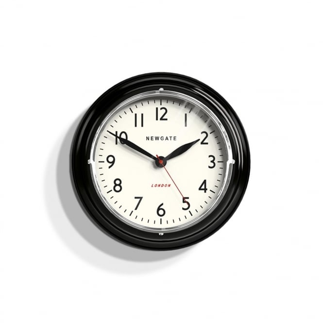 Newgate The Mini Cookhouse Wall Clock - Black