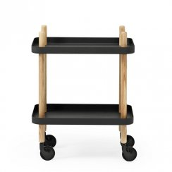 Block Side Table/Drinks Trolley - Black