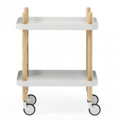 Block Side Table/Drinks Trolley - Light Grey