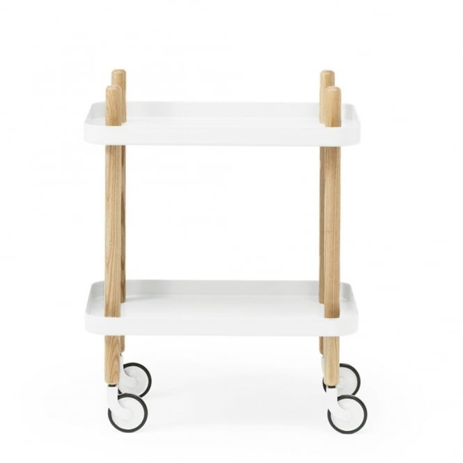 Normann Copenhagen Block Side Table/Drinks Trolley - White