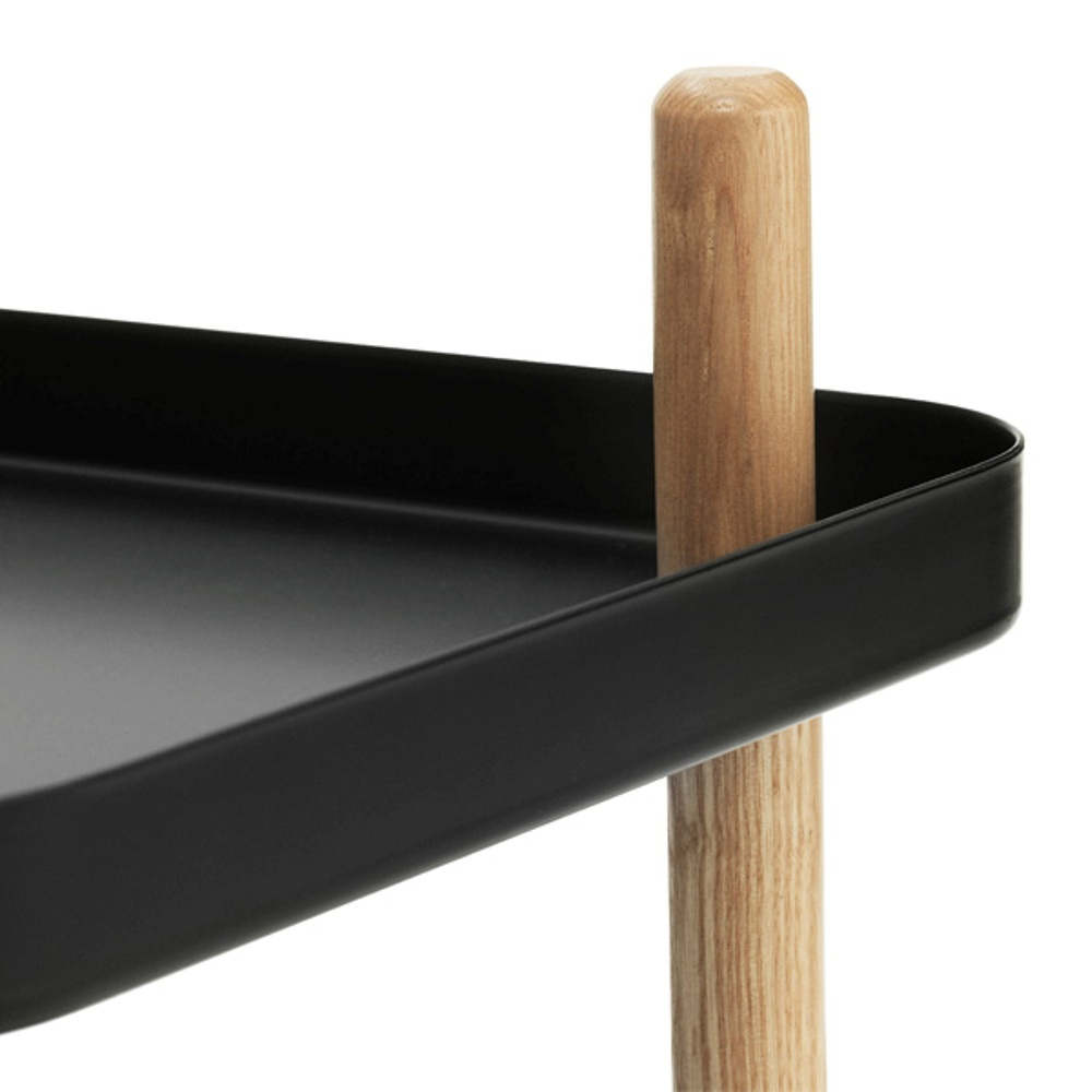 normann copenhagen block side table drinks trolley at black by design. Black Bedroom Furniture Sets. Home Design Ideas