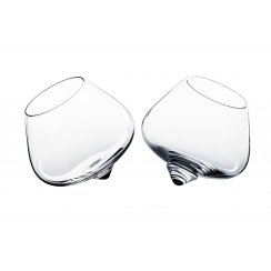 Cognac Rocking Glasses - Set of 2