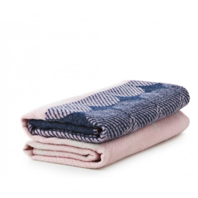 Normann Copenhagen Ekko Throw Blanket - Navy/Rose