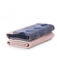 Ekko Throw Blanket - Navy/Rose