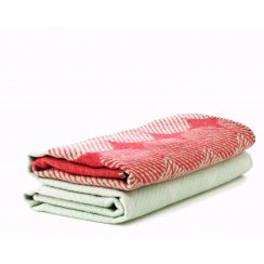 Ekko Throw Blanket - Raspberry/Mint