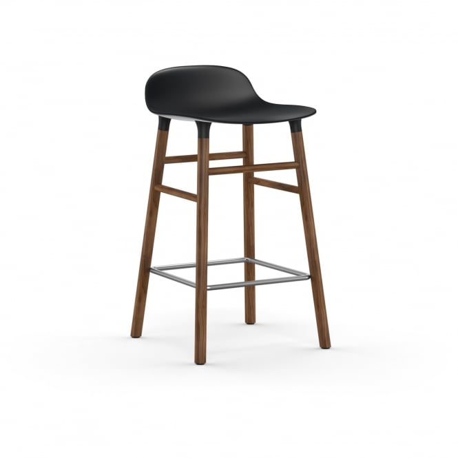 Normann Copenhagen Form Bar Stool - Walnut - 65cm - Assorted Colours