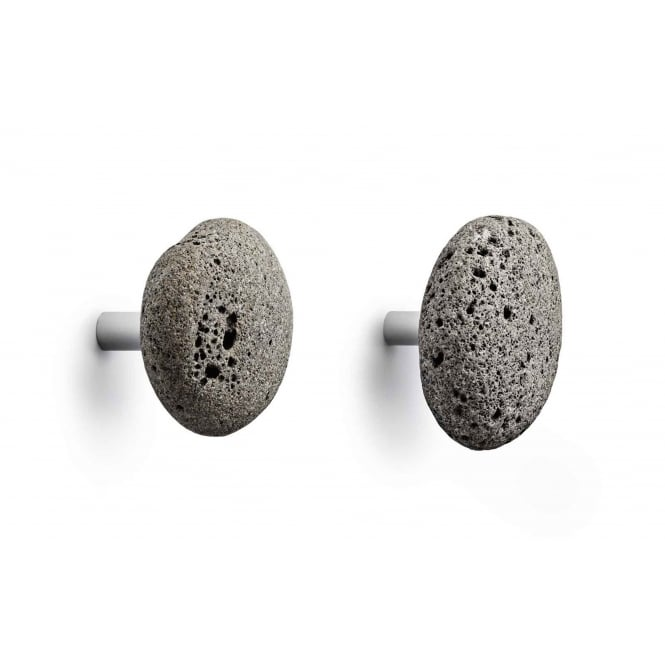 Normann Copenhagen Stone Wall Hooks - Grey - Set of 2