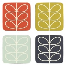 Coasters Set - Linear Stem - Set of 4