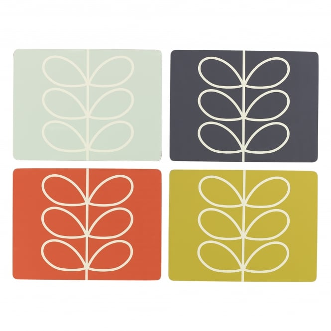 Orla Kiely Placemats Set - Linear Stem - Set of 4