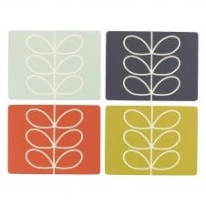 Placemats Set - Linear Stem - Set of 4