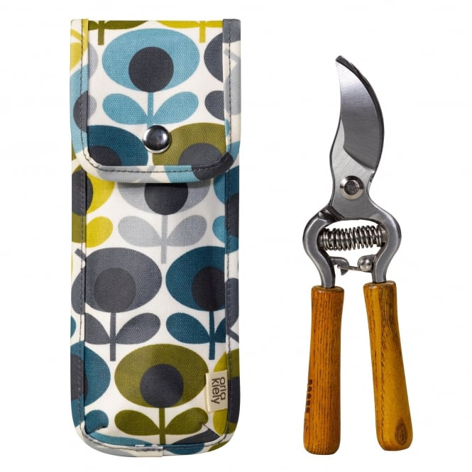 Orla Kiely Secateurs in Pouch - Multi Flower Oval Print