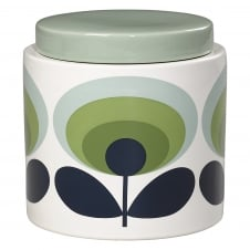 Storage Jar - 70s Flower Oval - Green