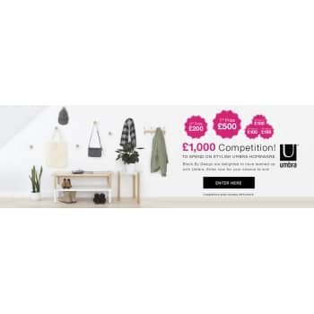 Win a Fabulous Shopping Spree with our Umbra £1000 Competition