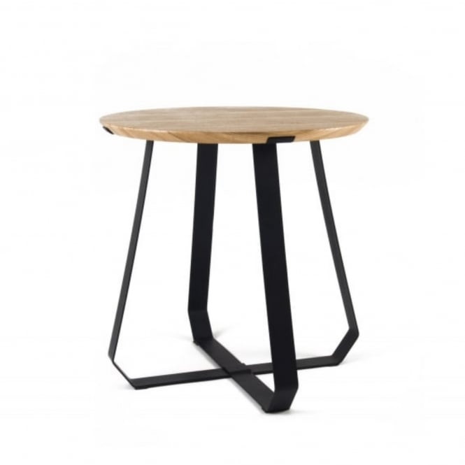 Puik Art SHUNAN Side Table - Ash Wood Veneer with Black Legs