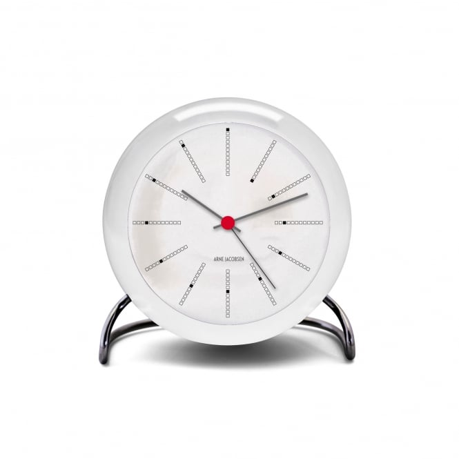 Rosendahl Copenhagen Arne Jacobsen Bankers Table Alarm Clock - White