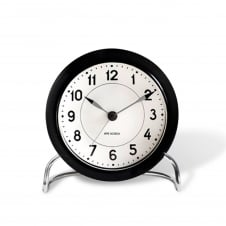 Arne Jacobsen Station Table Alarm Clock - Black