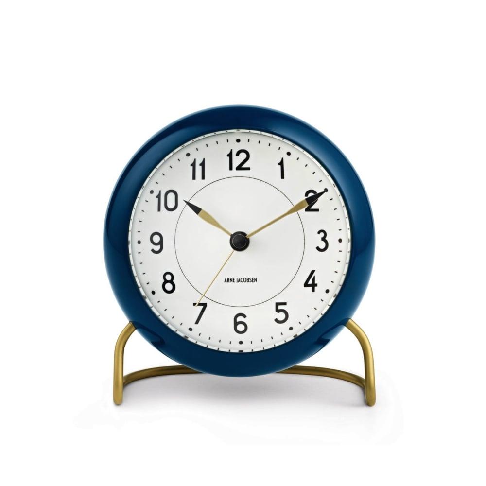 rosendahl station table alarm clock petrol blue black. Black Bedroom Furniture Sets. Home Design Ideas