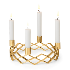 Karen Blixen Advent Candle Holder - Gold Plated