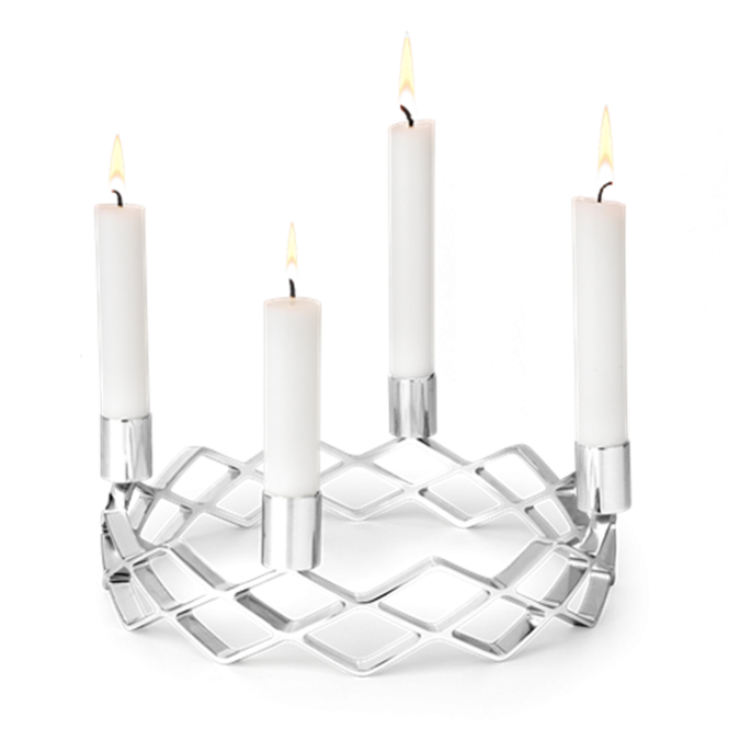 Rosendahl Copenhagen Karen Blixen Advent Candle Holder - Silver Plated