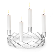 Karen Blixen Advent Candle Holder - Silver Plated