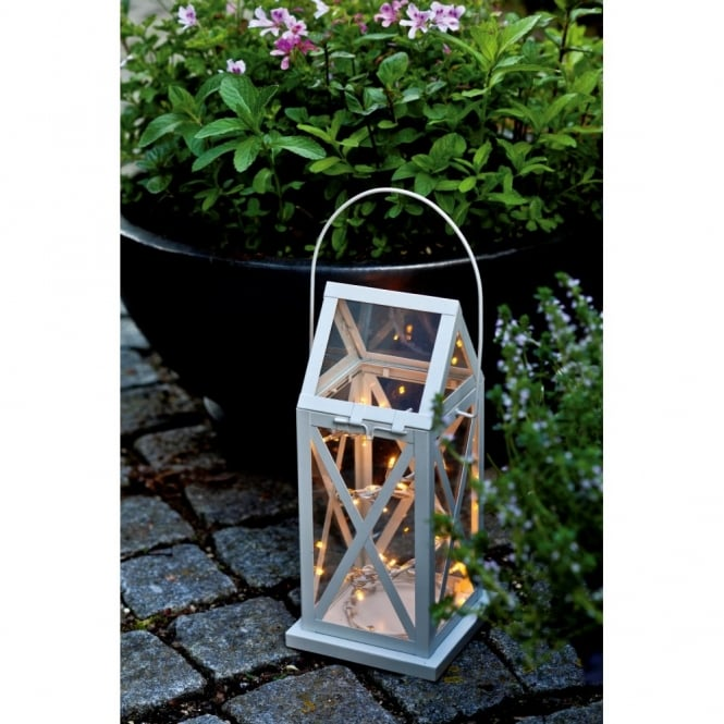 Sirius Aske Indoor/Outdoor LED Lantern - Cream