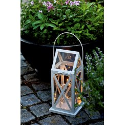 Aske Indoor/Outdoor LED Lantern - Cream