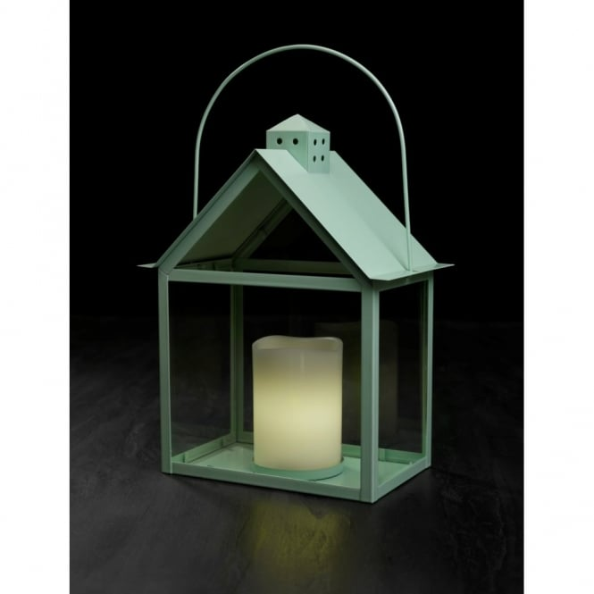 Sirius Aura Lantern with LED Wax Candle - Pistachio