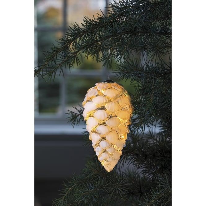 Sirius Celina Pine Cone Light 15cm Snowy White Black