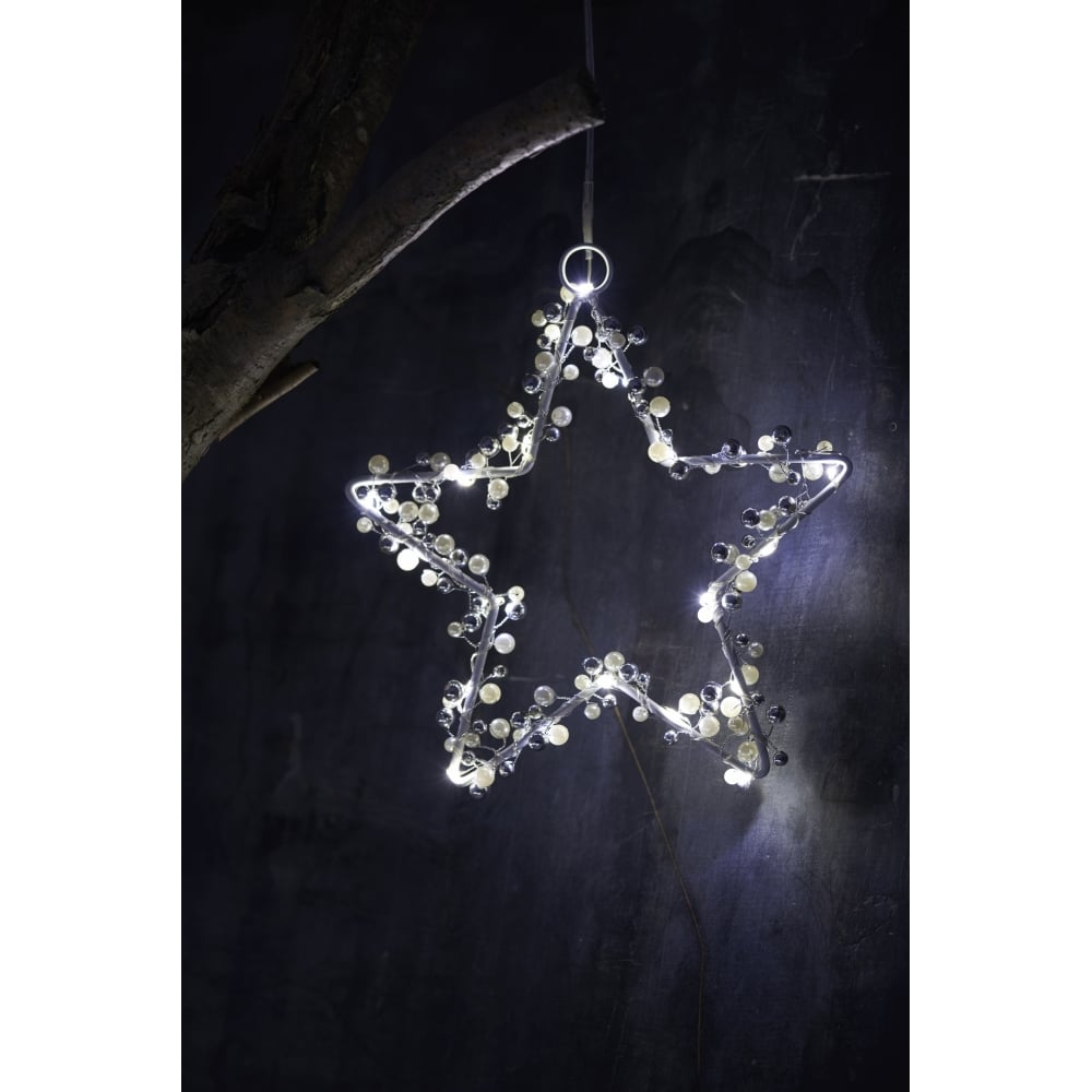 Juliet Star LED Christmas Light - White/Silver - Small  sc 1 st  Black By Design & Sirius Juliet Star | Small | White/Silver | Black by Design azcodes.com