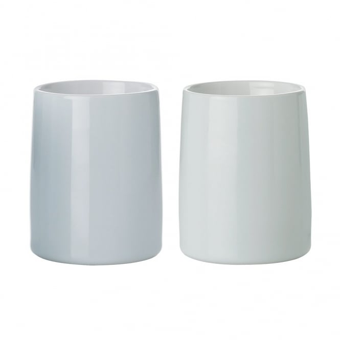 Stelton Emma Stoneware Thermo Cup - Set of 2 - Blue