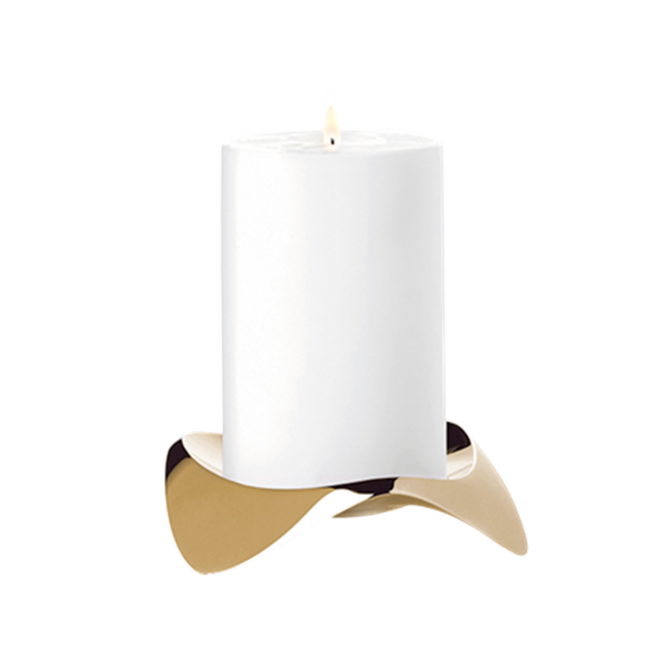 Stelton Papilio Uno Candle Holder - Brushed Brass