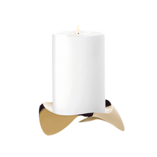 Papilio Uno Candle Holder - Brushed Brass