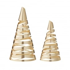 Tangle Christmas Tree - Set of 2 - Brass
