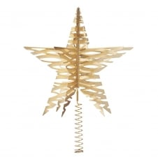 Tangle Star Christmas Tree Top - Brass