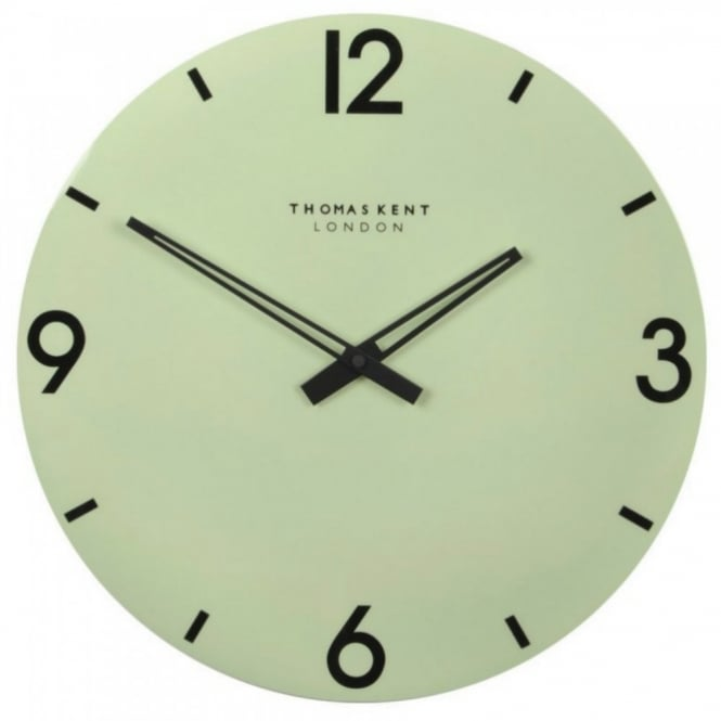 Thomas kent 15quot oxford mint green wall clock at black by for Green wall clocks uk