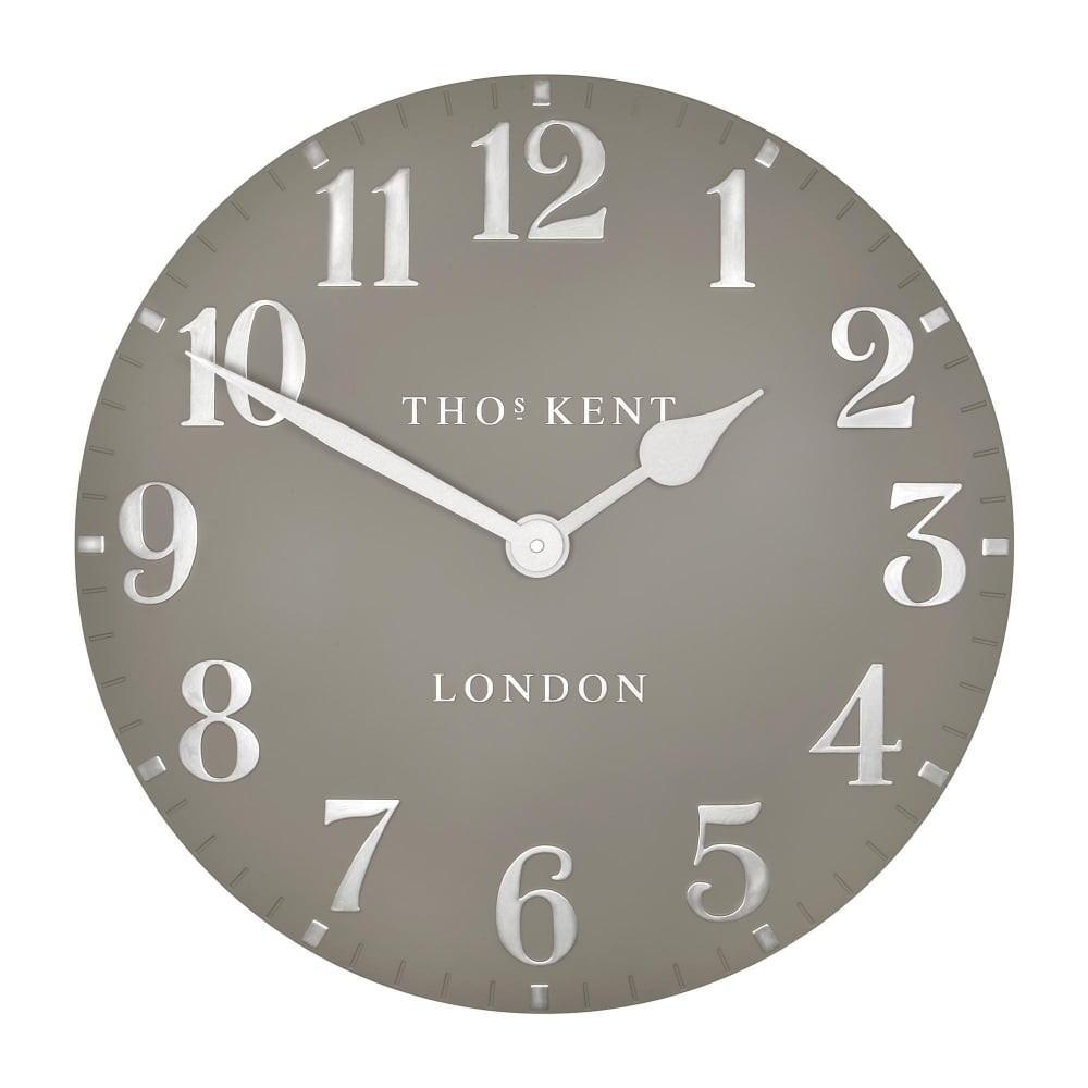 Thomas Kent Arabic Wall Clock Cool Mink Black By Design