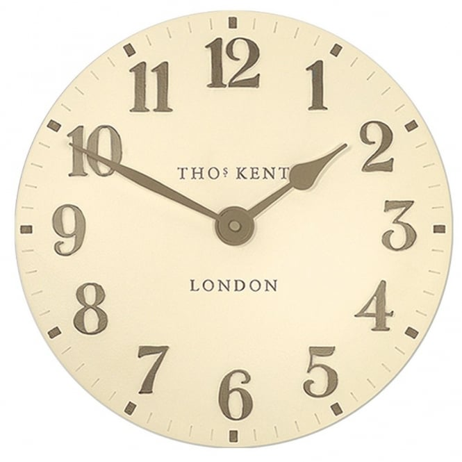 Thomas Kent Arabic Wall Clock - Cream