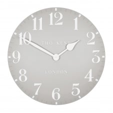 Arabic Wall Clock - Dove Grey