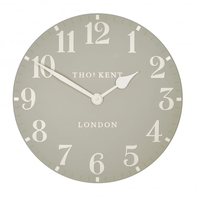 Thomas Kent Arabic Wall Clock - Stone
