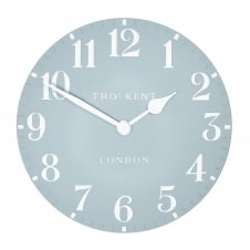 Arabic Wall Clock - Stonewash Blue