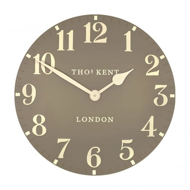 Thomas Kent Arabic Wall Clock - Taupe