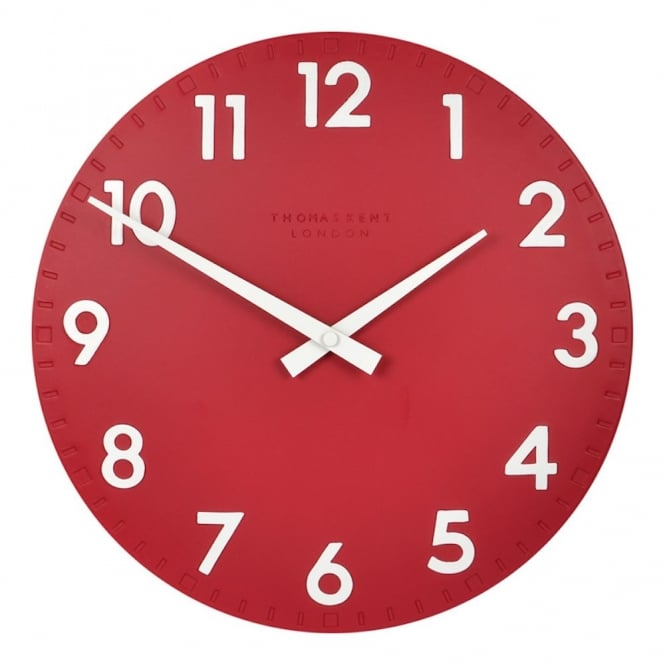 Thomas Kent Camden Wall Clock - Red