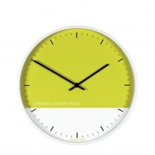 Eden Contemporary Wall Clock - 33cm - Sherbet Lemon
