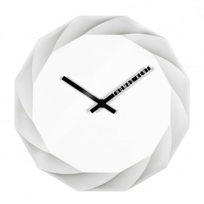 Thomas Kent 3d Dodecagon Elan Wall Clock White Black