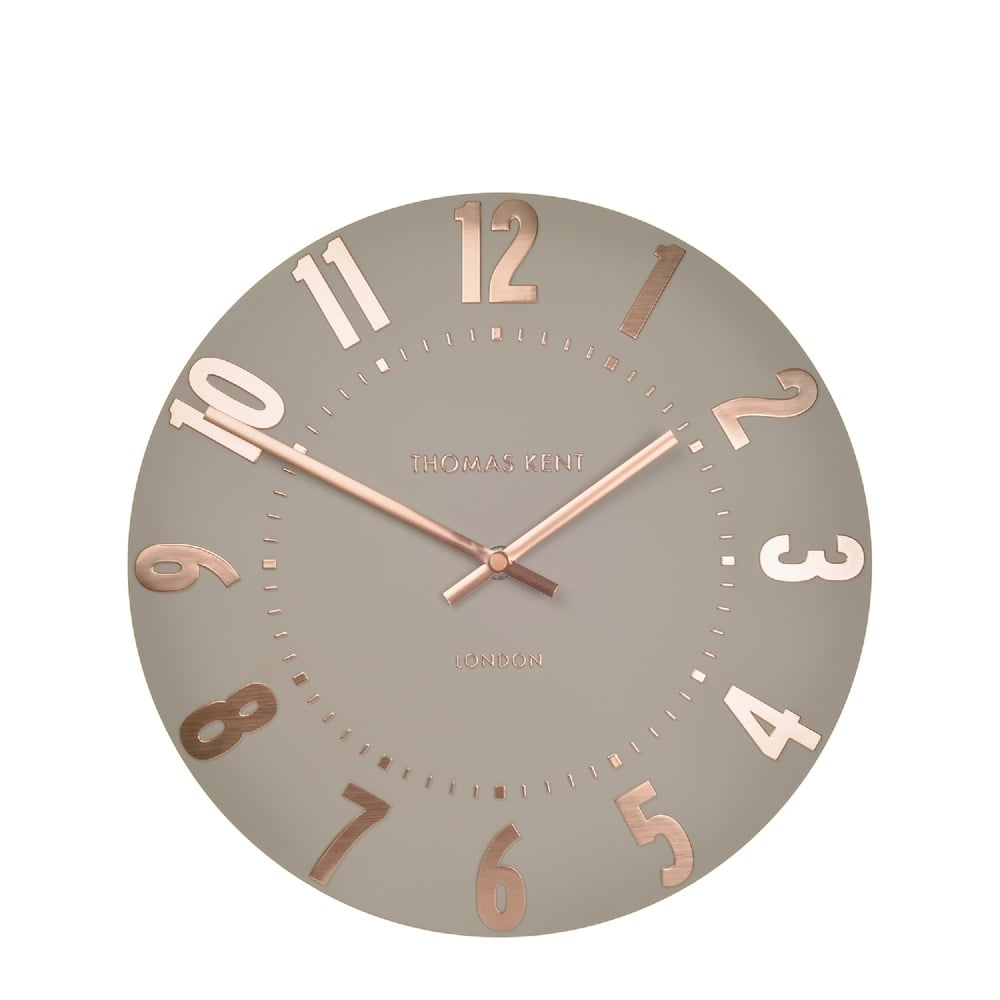Thomas Kent Mulberry Wall Clock Rose Gold Black By Design